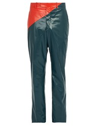 Calvin Klein 205W39nyc Colour Block Rubberized Cotton Trousers Blue