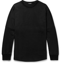 Raf Simons Printed Loopback Cotton Jersey T Shirt Black