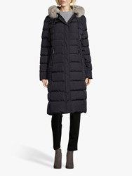 Betty Barclay Quilted Hooded Coat Dark Blue