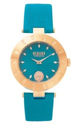 Versus By Versace Women's New Logo Leather Strap Watch 34Mm Green Gold