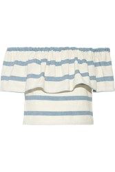 Mara Hoffman Off The Shoulder Striped Cotton Top