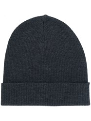 P.A.R.O.S.H. Knitted Beanie Hat Wool Grey