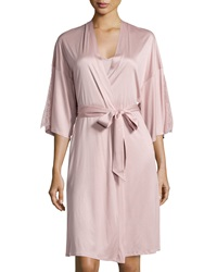 Hanro Constance Lace Inset 3 4 Sleeve Wrap Robe