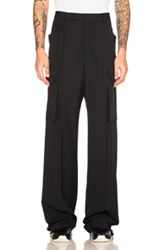 Rick Owens Tailored Cargo Pants In Black