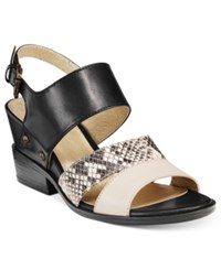 White Mountain Saute Dress Sandals Women's Shoes Black Multi