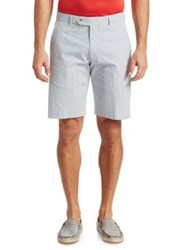 Saks Fifth Avenue Collection Gingham Seersucker Shorts Blue Red White
