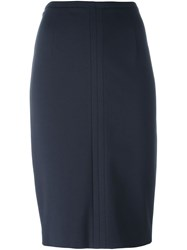 Les Copains Classic Pencil Skirt Blue