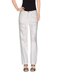 Mother Denim Denim Trousers Women White