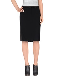 Laltramoda Knee Length Skirts Black