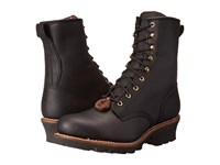 Chippewa 8 Steel Toe Logger Black Men's Work Boots