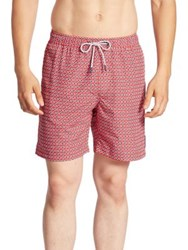 Michael Kors Geo Swim Trunks Crimson Midnight