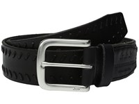 John Varvatos Laced Strap Belt With Harness Buckle Black Men's Belts