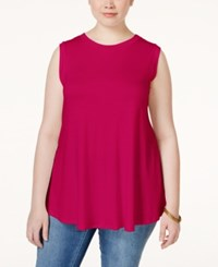 Stoosh Plus Size Sleeveless Basic Top Berry