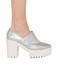 Pixie Market Holographic Platform Shoes