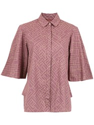 Sissa Gingham Angola Shirt Pink And Purple