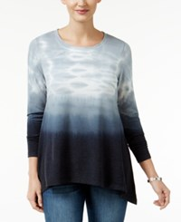 Styleandco. Style Co. Tie Dyed Handkerchief Hem Top Only At Macy's Deep Black