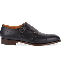 Paul Smith Atkins Leather Double Monk Shoes Black