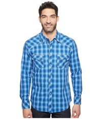 Rock And Roll Cowboy Long Sleeve Snap B2s1242 Blue Men's Clothing