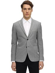 Tonello Single Breasted Cotton Jersey Jacket Grey