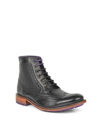Ted Baker Sealls 3 Brogue Leather Boots Black