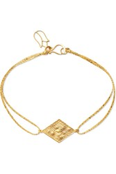 Pippa Small 18 Karat Gold And Cord Bracelet One Size