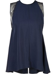 Adam By Adam Lippes Flared Layer Tank Blue