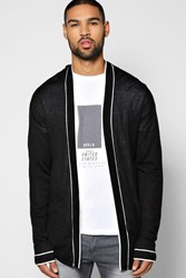 Boohoo Open Front Lightweight Pocketed Cardigan Black