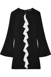 Rachel Zoe Monner Ruffled Crepe Mini Dress Black