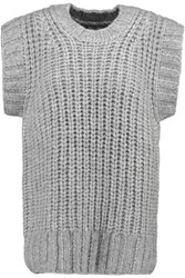 Nlst Chunky Knit Sweater Gray