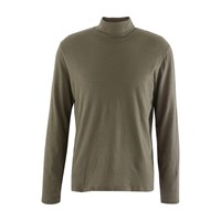 Majestic Cotton And Cashmere Roll Neck Top Militaire