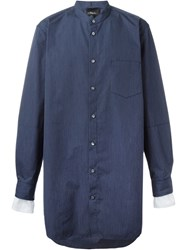 3.1 Phillip Lim Oversized Pinstriped Shirt Blue
