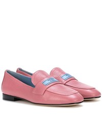 Prada Leather Loafers Pink