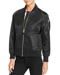 Aqua Flight Bomber Jacket Black