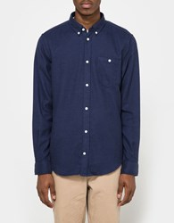Norse Projects Osvald Brushed Shirt In Navy