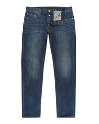 Ted Baker Steed Straight Fit Dark Wash Jeans Blue