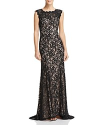 Decode 1.8 Scalloped Lace Gown Black Nude