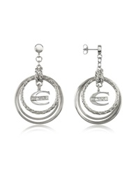 Just Cavalli Infinity Logo Charm Earrings Silver