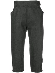Yves Saint Laurent Vintage Cropped Trousers Grey