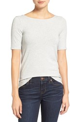 Madewell Women's Chorus Scoop Back Tee Heather Cloud