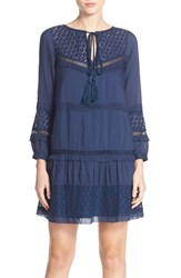 French Connection Women's 'Lola' Mixed Media A Line Dress