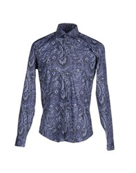 Bogosse Shirts Shirts Men Slate Blue
