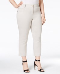 Styleandco. Style And Co. Plus Size Embellished Capri Pants Only At Macy's Stonewall