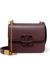 Valentino Garavani Vsling Large Textured Leather Shoulder Bag Burgundy