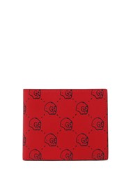 Gucci Ghost Hamlet Print Leather Wallet