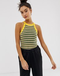 Noisy May High Neck Knitted Top Multi