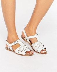 New Look Plaited Strappy Sandal White