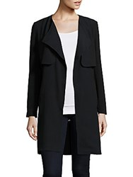 Romeo And Juliet Couture Solid Overlay Jacket Black