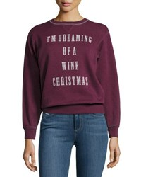 Signorelli I'm Dreaming Of A Wine Christmas Sweatshirt Dark Red