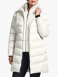 Four Seasons V Shaped Quilted Coat Winter White