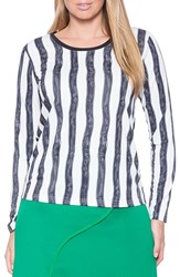 Plus Size Women's Eloquii Stripe Ponte Top
